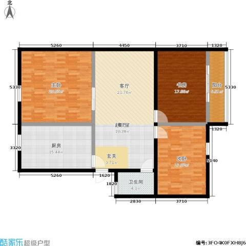 孩儿巷3室0厅1卫1厨135.00㎡户型图