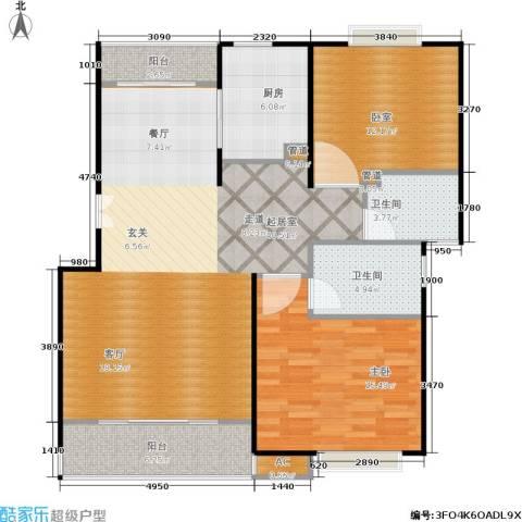 明城玫瑰园1室0厅2卫1厨100.00㎡户型图
