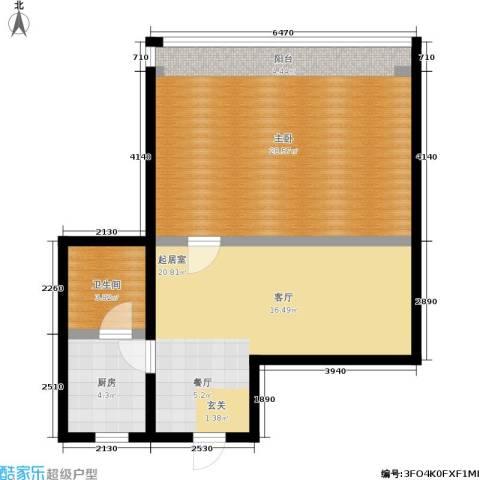 孩儿巷1室0厅1卫1厨65.00㎡户型图