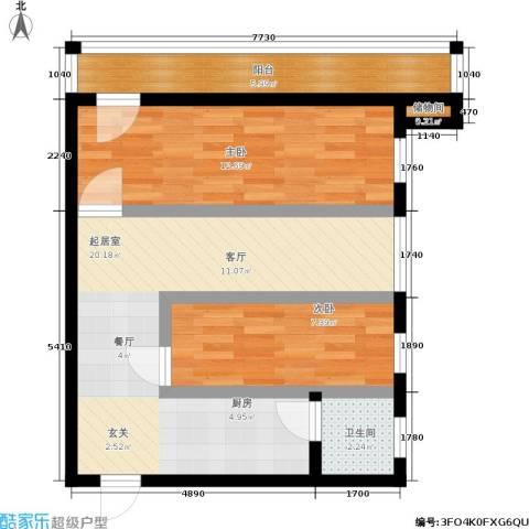 孩儿巷2室0厅1卫0厨59.00㎡户型图