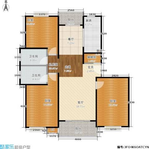 明城玫瑰园2卫1厨110.00㎡户型图