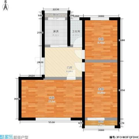 景芳五区3室0厅1卫1厨68.00㎡户型图