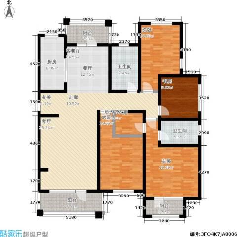 建荣皇家海岸4室1厅2卫1厨161.00㎡户型图