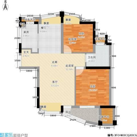 东方丽都花苑1室0厅1卫1厨88.00㎡户型图