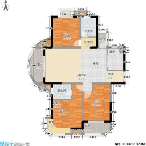 东方丽都花苑2室0厅2卫1厨120.00㎡户型图