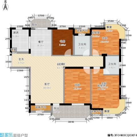东方丽都花苑2室0厅2卫1厨147.00㎡户型图