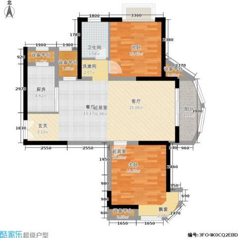 东方丽都花苑1室0厅1卫1厨87.00㎡户型图