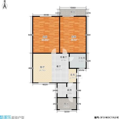 丹桂公寓2室1厅1卫1厨112.00㎡户型图