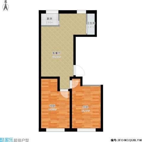 嘉惠红山郡2室1厅1卫1厨69.00㎡户型图