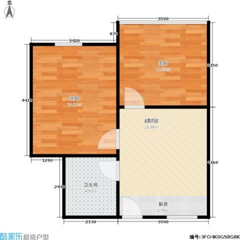 景芳六区2室0厅1卫0厨48.00㎡户型图