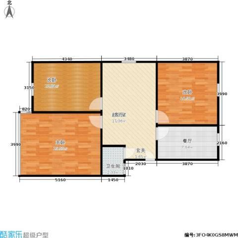 景芳六区3室1厅1卫0厨81.00㎡户型图