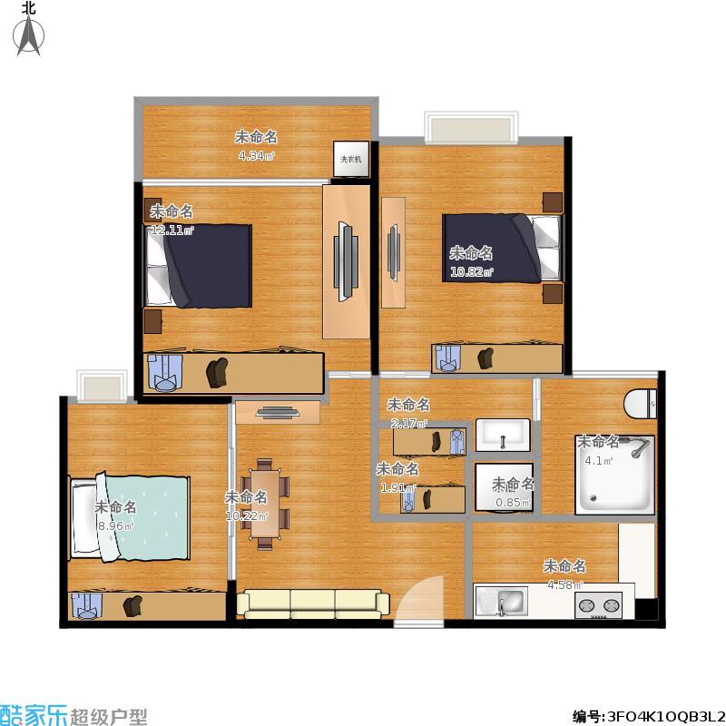 85方A2户型两室两厅