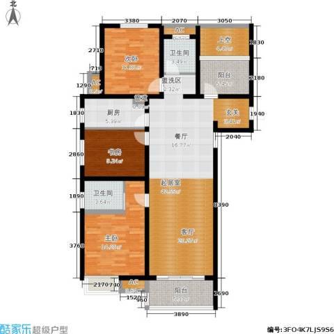 文一名门首府3室0厅2卫1厨129.00㎡户型图