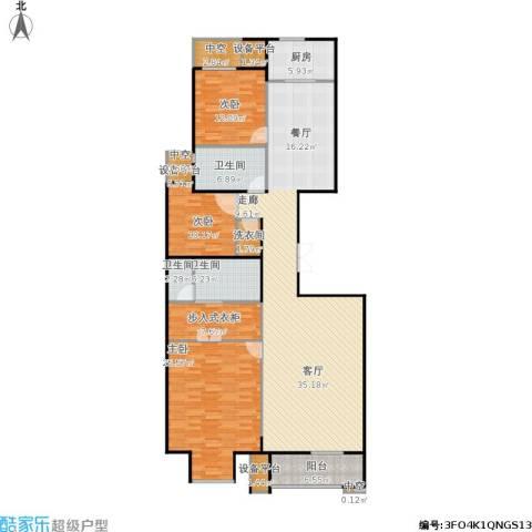 万通天竺新新家园・溪悦府3室1厅3卫1厨206.00㎡户型图