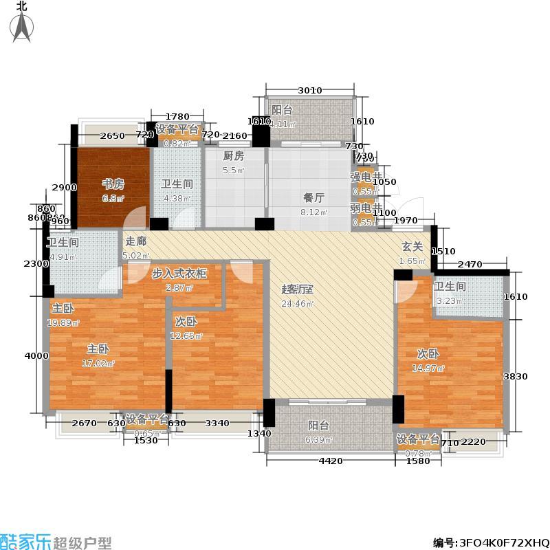 滨江万家星城二期7幢1单元02室偶数层Q2户型