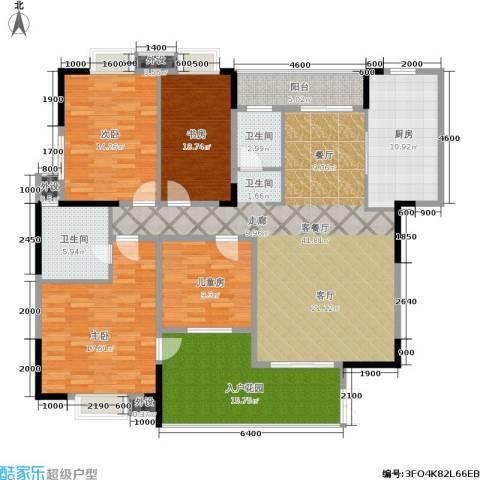 丽都桃源4室1厅2卫1厨163.00㎡户型图