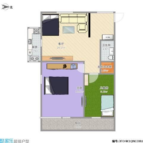 八角北里2室1厅1卫1厨84.00㎡户型图