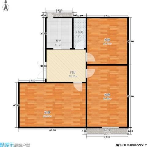 景芳六区3室0厅1卫1厨85.00㎡户型图