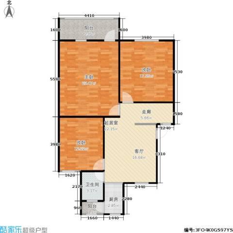 景芳六区3室0厅1卫1厨95.00㎡户型图