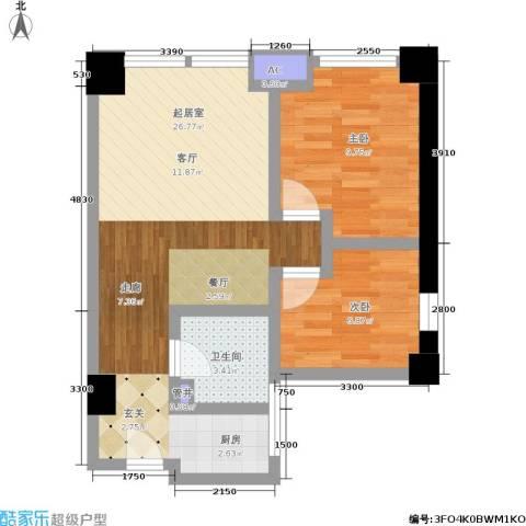 金沙居2室0厅1卫0厨72.00㎡户型图