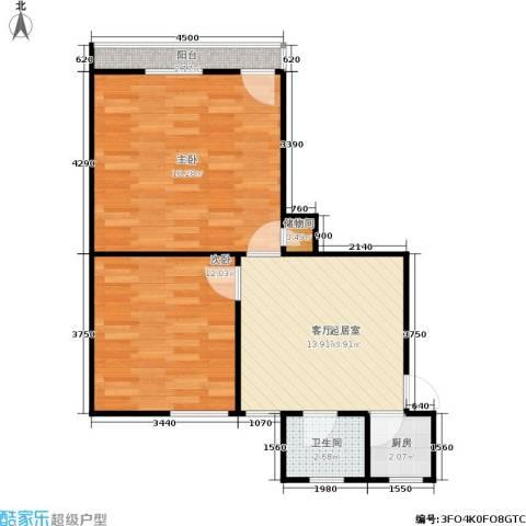朝晖二区2室0厅1卫1厨56.00㎡户型图