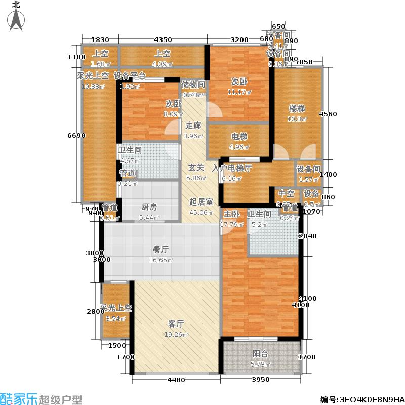 绿城西子田园牧歌4号楼1单元中间套G-1户型