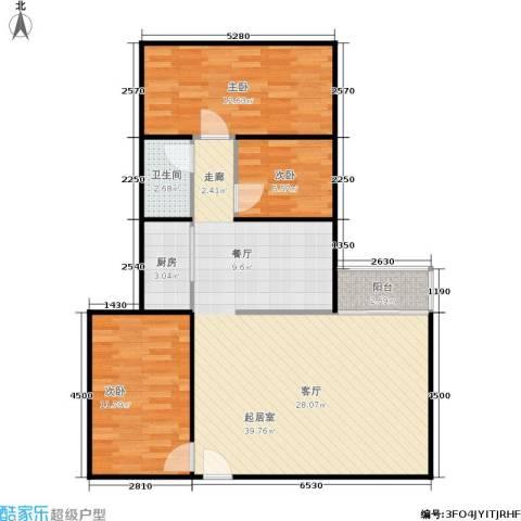 湖畔花园3室0厅1卫1厨84.00㎡户型图