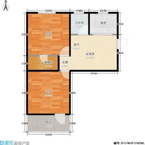 朝晖二区2室0厅1卫1厨48.00㎡户型图