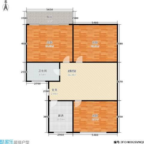 景芳六区3室0厅1卫1厨137.00㎡户型图