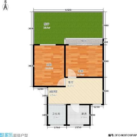 朝晖二区2室0厅1卫1厨60.00㎡户型图