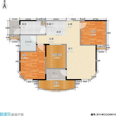 公园世家2室1厅1卫1厨88.00㎡户型图
