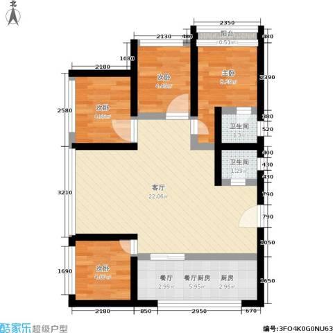 机神新村4室1厅2卫0厨60.00㎡户型图