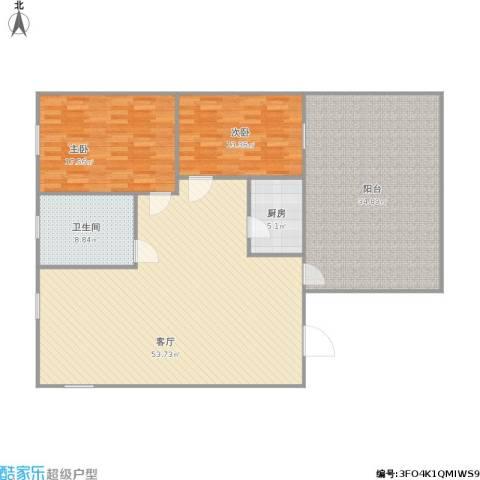 逸港花园2室1厅1卫1厨175.00㎡户型图