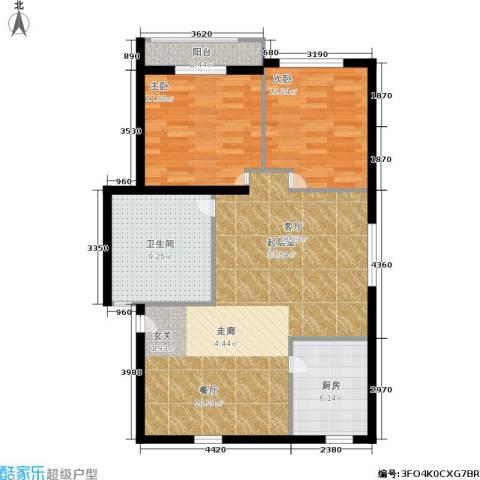 静安花园2室0厅1卫1厨81.00㎡户型图