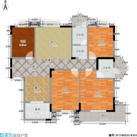 丽都桃源4室1厅2卫1厨135.00㎡户型图