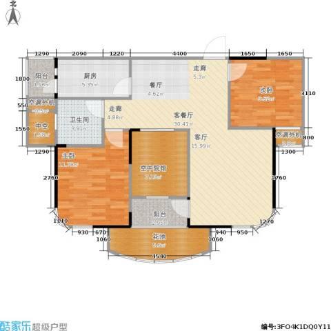 公园世家2室1厅1卫1厨86.00㎡户型图