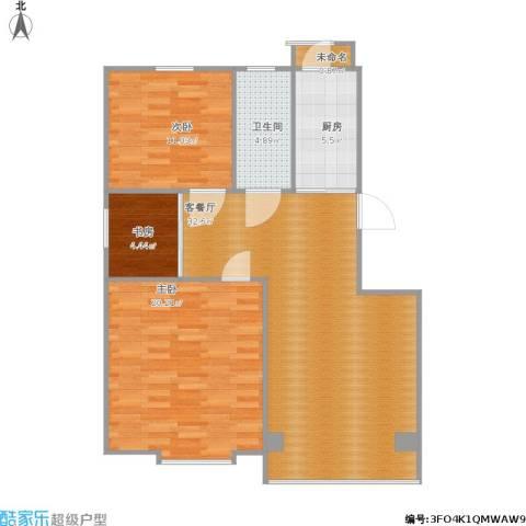 青年城3室1厅1卫1厨107.00㎡户型图