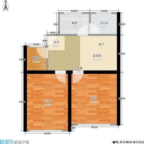 景芳新五区2室0厅1卫1厨53.00㎡户型图