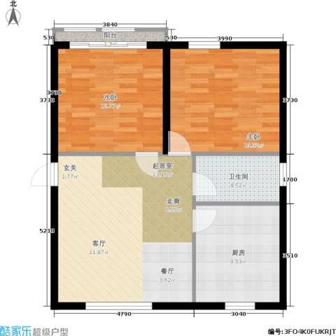 东都公寓2室0厅1卫1厨72.00㎡户型图