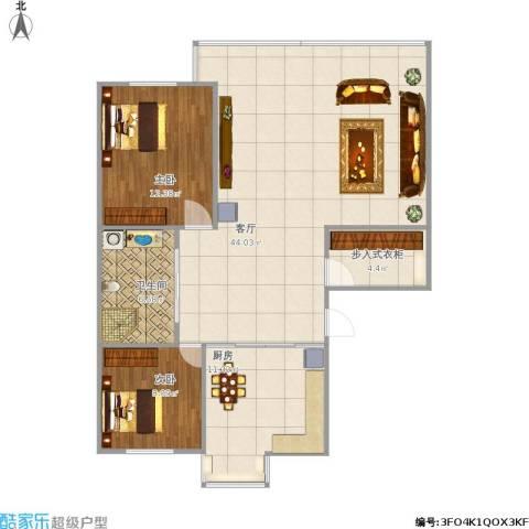 北岸龙庭2室1厅1卫1厨115.00㎡户型图