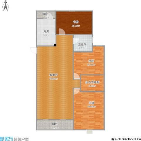 和泰玫瑰园3室1厅1卫1厨156.00㎡户型图