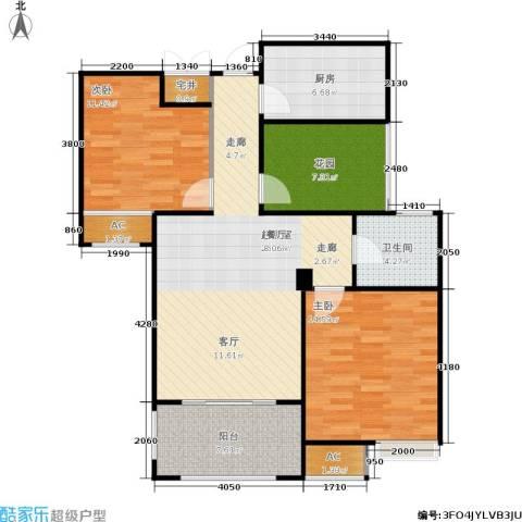 绿地香树花城2室0厅1卫1厨90.00㎡户型图