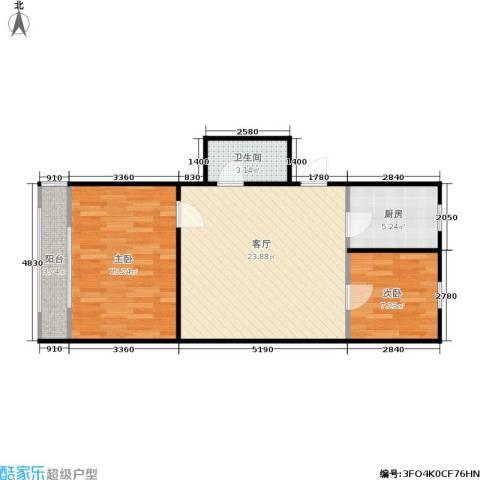 三里亭四区2室1厅1卫1厨63.00㎡户型图