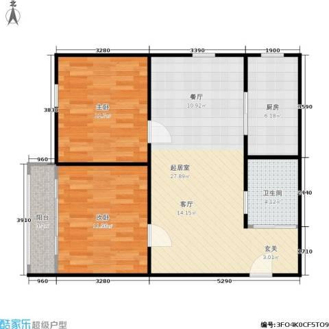 三里亭四区2室0厅1卫1厨70.00㎡户型图