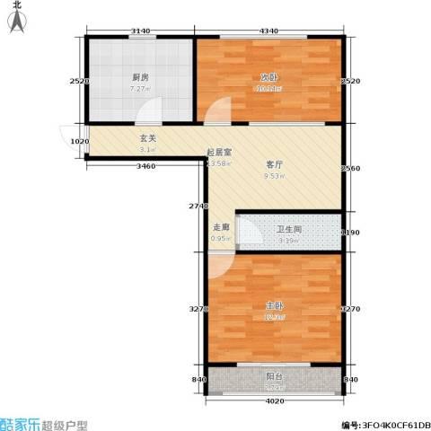 三里亭四区2室0厅1卫1厨54.00㎡户型图