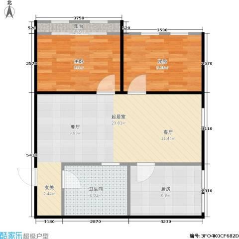 三里亭四区2室0厅1卫1厨60.00㎡户型图