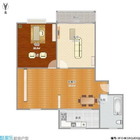 广益佳苑1室2厅1卫1厨135.00㎡户型图