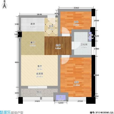 金沙居2室0厅1卫0厨75.00㎡户型图