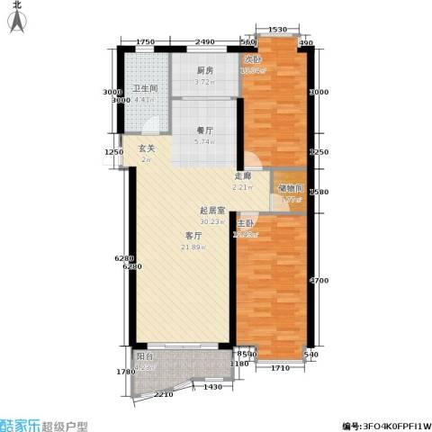 大都文苑风情2室0厅1卫1厨75.00㎡户型图