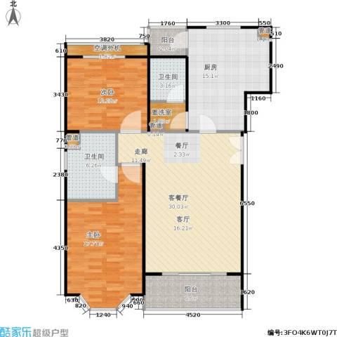 众众家园2室1厅2卫1厨132.00㎡户型图